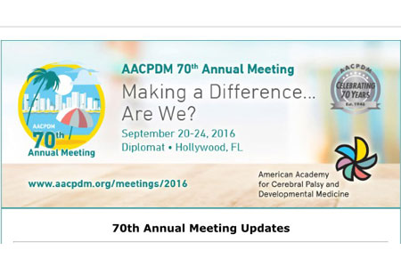 AACPDM 70 Annual Meeting 2016
